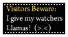 Beware of Llamas Stamp by CelticStrm-Stock