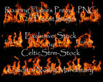 Roaring Fire Precut PNG by CelticStrm-Stock