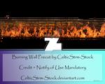 Burning Wall Precut by CelticStrm-Stock