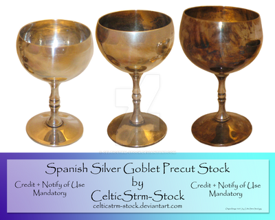 Silver Goblet Precut by CelticStrm-Stock by CelticStrm-Stock