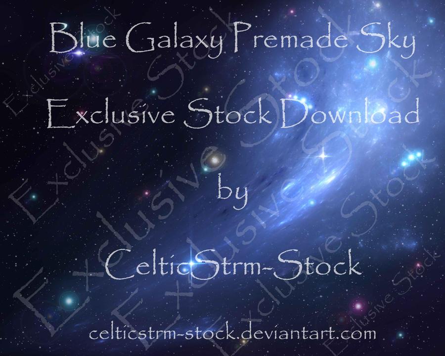 Blue Galaxy Premade by CelticStrm-Stock