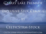 Galaxy Lake Premade Background Exclusive Stock