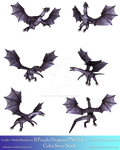 6 Purple Dragons Exclusive PNG by CelticStrm-Stock
