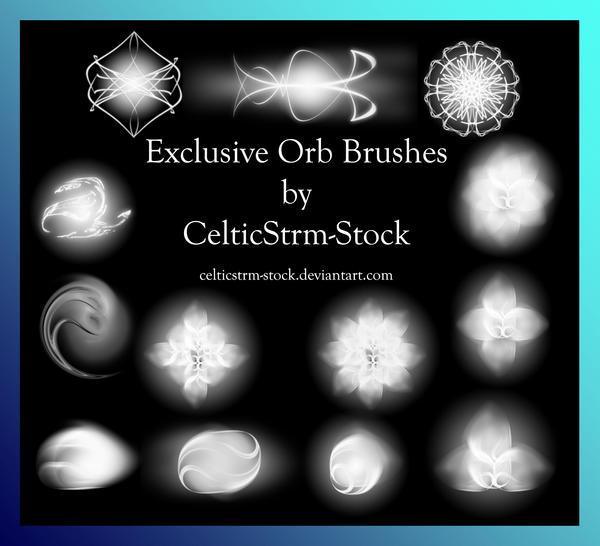 Orb Brushes by CelticStrm-Stock by CelticStrm-Stock on