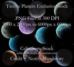Planet PNG Pack by CelticStrm-Stock