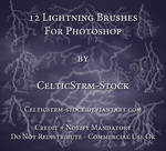 Lightning Brushes by CelticStrm-Stock