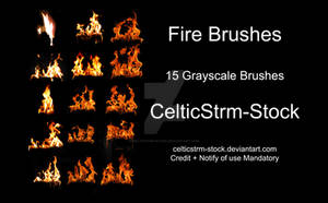 Fire Photoshop Brushes by CelticStrm-Stock