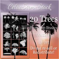 20 Tree Photoshop Brushes by CelticStrm-Stock