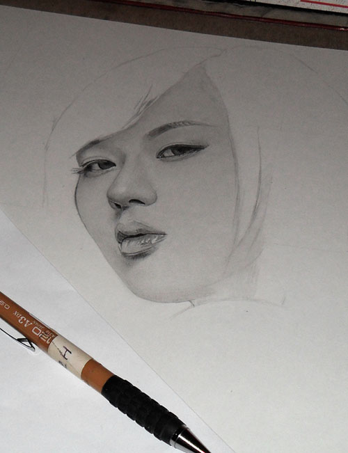 7th Drawing 2011 WIP1 by KLSADAKO