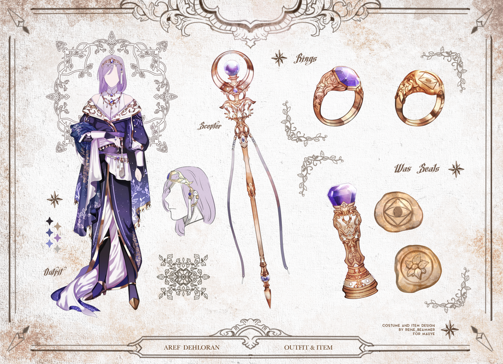 Custom outfit and item design for Mauve by RNbeammer
