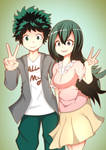 midoriya and tsuyu!
