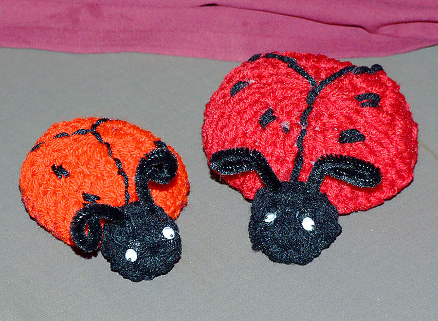 Amigurumi Ladybugs by mspeng on deviantART