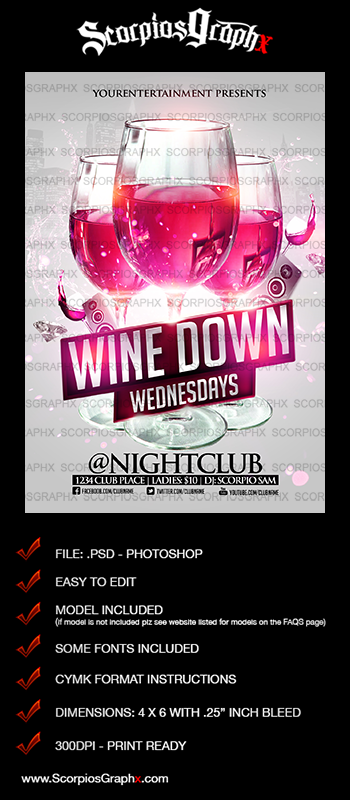Wine down wednesday flyer peopledavidjoel wine down wednesday flyer maxwellsz