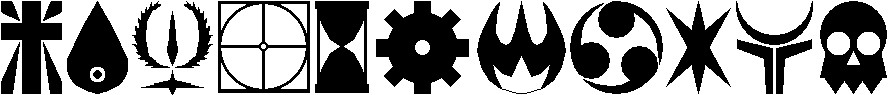 Elemental symbols by AllenRavenix