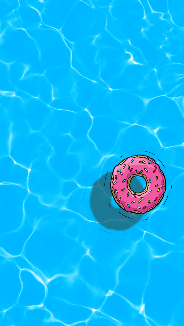 Donut On Water Iphone Wallpaper By Dontbekoi On Deviantart