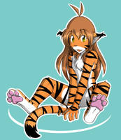 Flora with Pink Paws by Twokinds