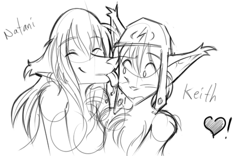 Natani licking Keith by Twokinds