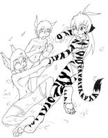 WaterParty Lineart by Twokinds