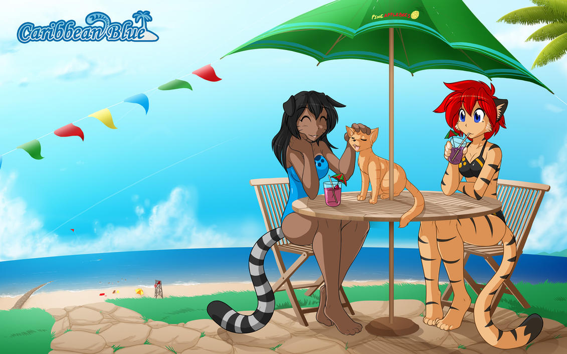 Caribbean Blue Fanart by Twokinds