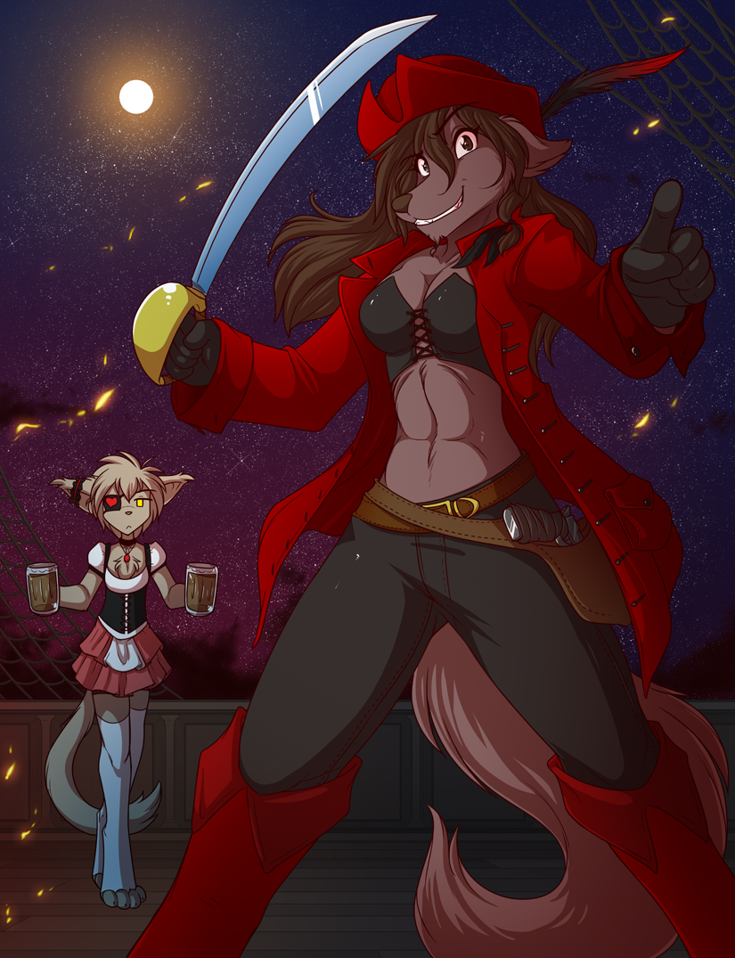 Pirate Natani and her Basitin Wench by Twokinds