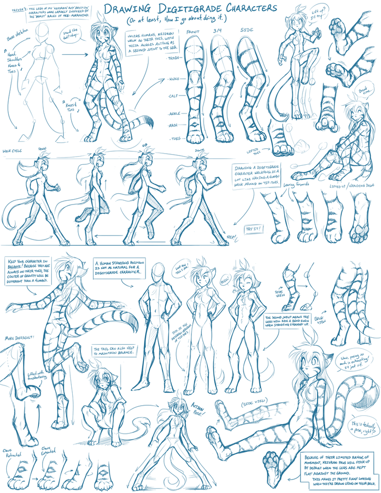 gallery descriptions anthro digital trad by kovowolf on tkturials digitigrade legs guide by twokinds