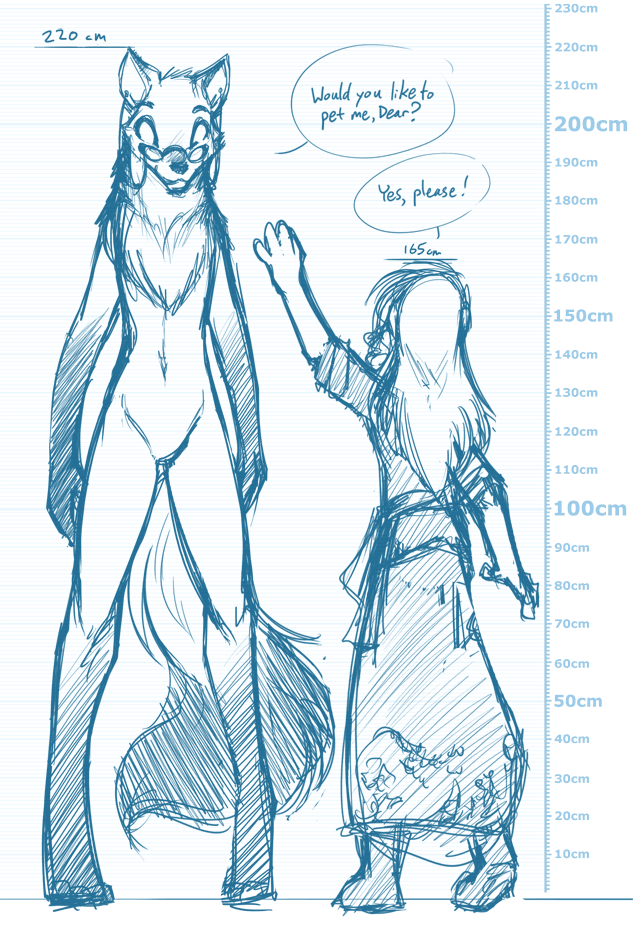 Stilt Wolf Doodle by Twokinds