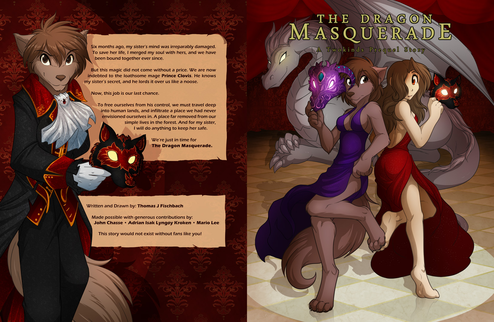The Dragon Masquerade: Cover by Twokinds