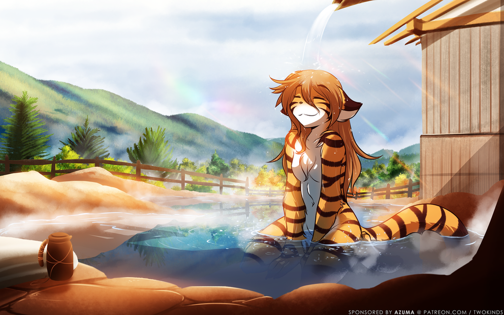 Mountain Hotsprings Flora by Twokinds