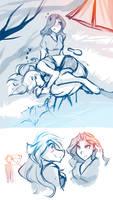 Misc Sketches: Maren and Raine Edition