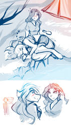 Misc Sketches: Maren and Raine Edition by Twokinds