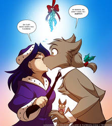 Mistletoe: Sythe and Maren?! by Twokinds