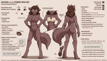 Natani Reference Sheet by Twokinds