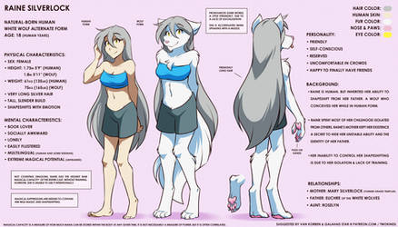 Raine Reference Sheet by Twokinds