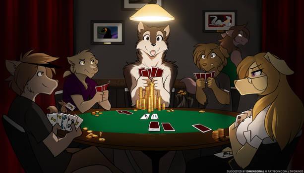 Keidran Playing Poker