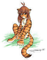 Flora - Sitting Pose by Twokinds