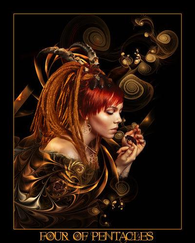 Tarot-Four of Pentacles