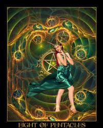Tarot-Eight of Pentacles
