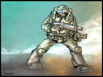 Soldier at war by rickrd