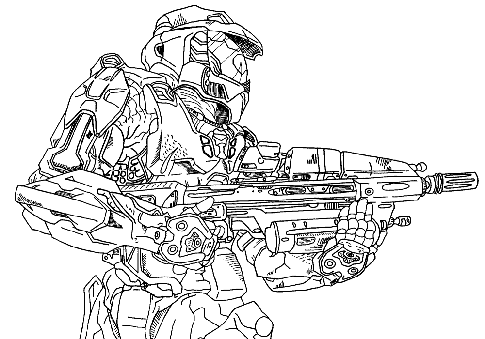 Master Chief Lineart By Sephiroth7734 On Deviantart