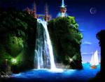 islamic waterfall