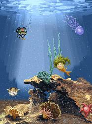 Underwater pixel world
