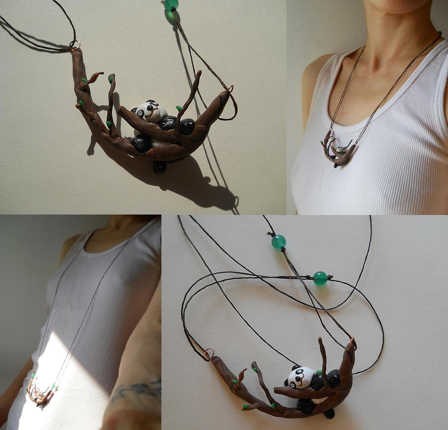Clay Panda pendant by GemDeDude