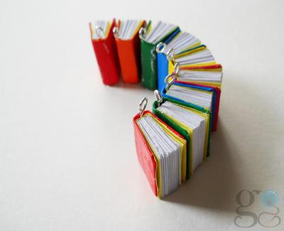 Book charms by GemDeDude