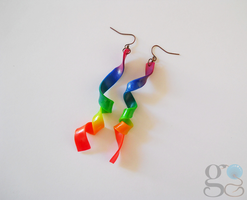 Rainbow earrings by GemDeDude