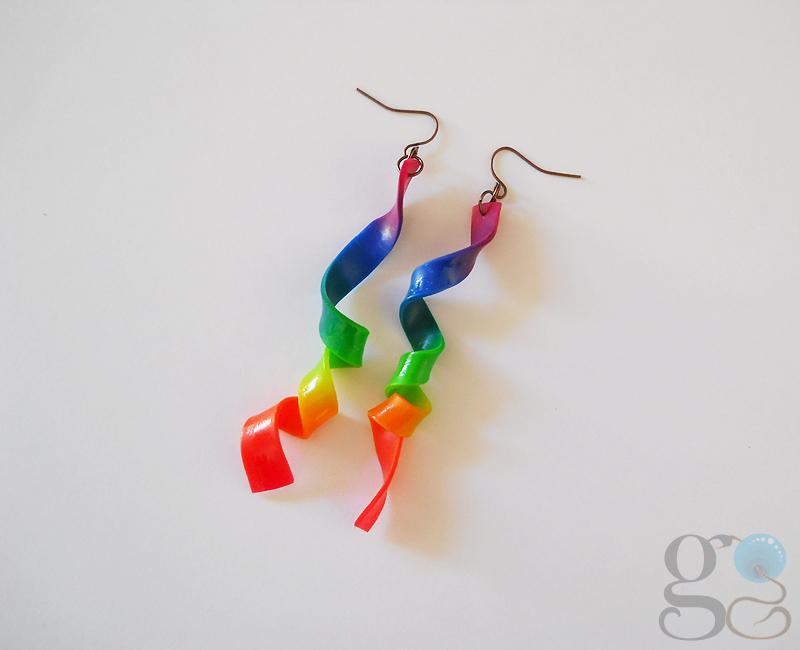Rainbow earrings by GemDeDude