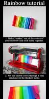 Polymer clay rainbow tutorial