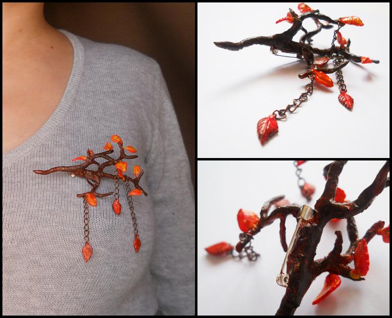 Autumn brooch by GemDeDude