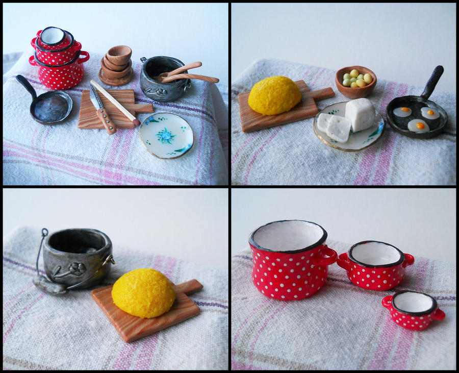 Gramma's kitchen - miniatures by GemDeDude