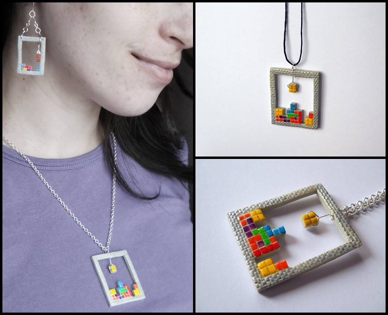 Tetris pendant by GemDeDude
