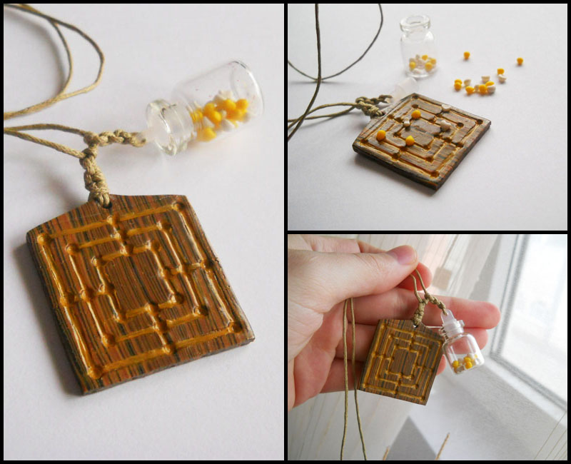 Nine Men's Morris - playable game pendant by ALINAFMdotRO
